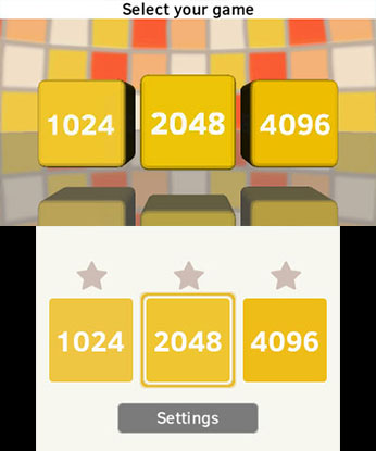 2048 3DS Gameplay