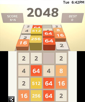 2048 3DS Gameplay