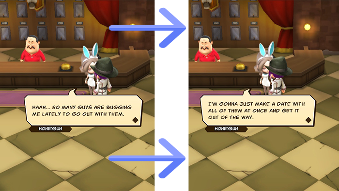 Some of the dialogue in Snack World: The Dungeon Crawl – Gold