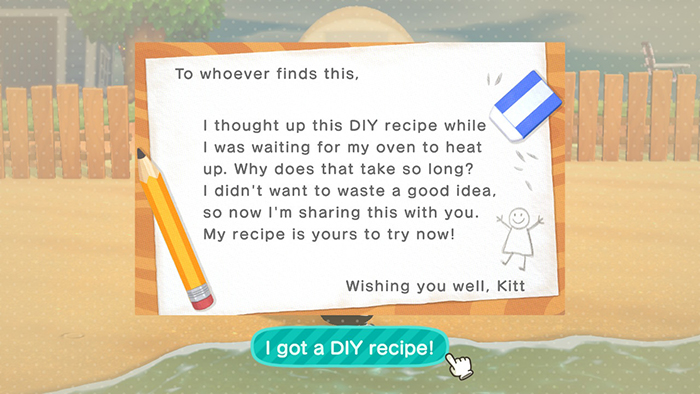 Letter in Animal Crossing: New Horizons