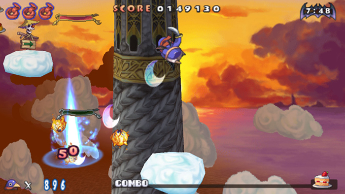 Prinny's Jump Attack in Prinny 1