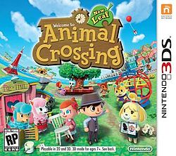 Animal Crossing New Leaf Game Box Cover Art