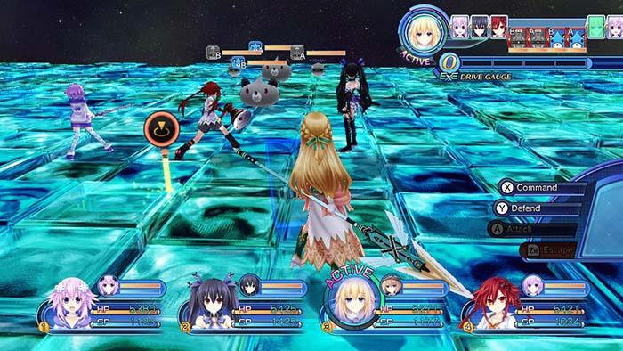 Megadimension Neptunia VII Battle