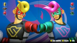 Changing skin color of ARMS character