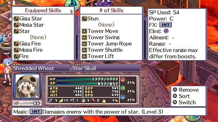 Arranging skills in Disgaea 4 Complete+