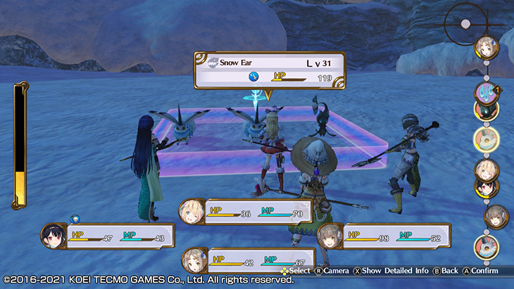 Combat in Atelier Firis DX