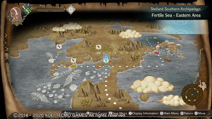 World map of Atelier Shallie: Alchemists of the Dusk Sea DX