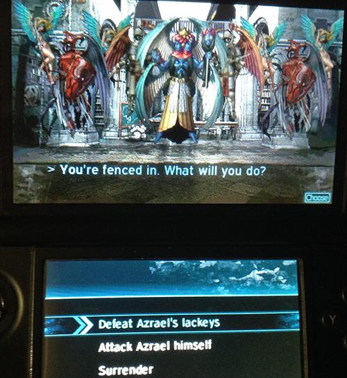 Battle decisions with Azrael