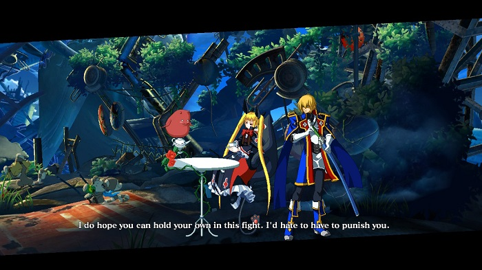 Opening lines for Rachel Alucard and Jin Kisaragi.
