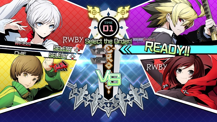 Player 1 decides fighter placement before battle in BBTAG.