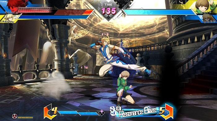 Naoto versus Chie in BBTAG.