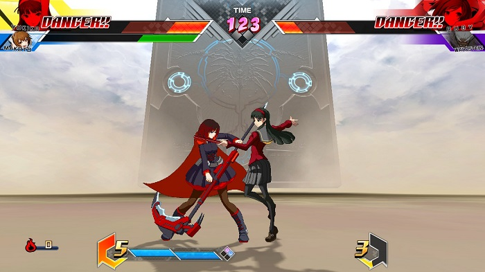 This is Yukiko's grab in BBTAG.