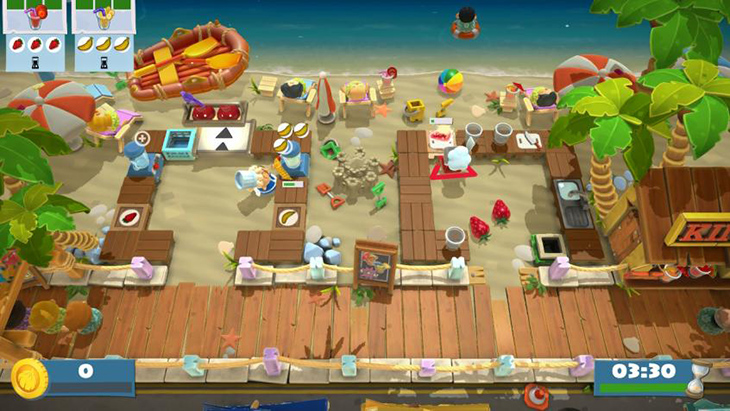 Beach Themed Stage DLC in Overcooked All You Can Eat