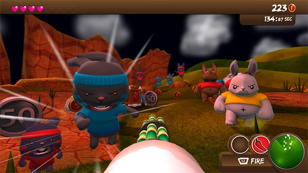 Blast 'em Bunnies 3DS Gameplay