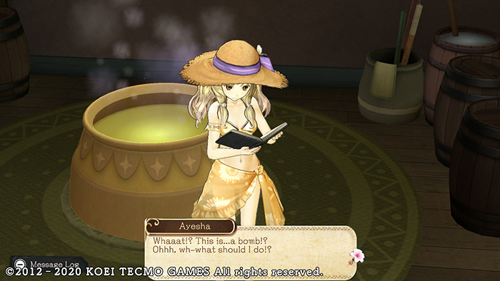 Learning to make a bomb in Atelier Ayesha: The Alchemist of Dusk DX