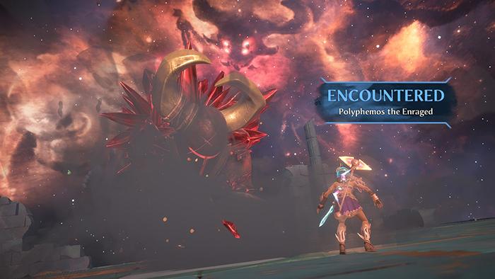 Boss battle in Immortals Fenyx Rising