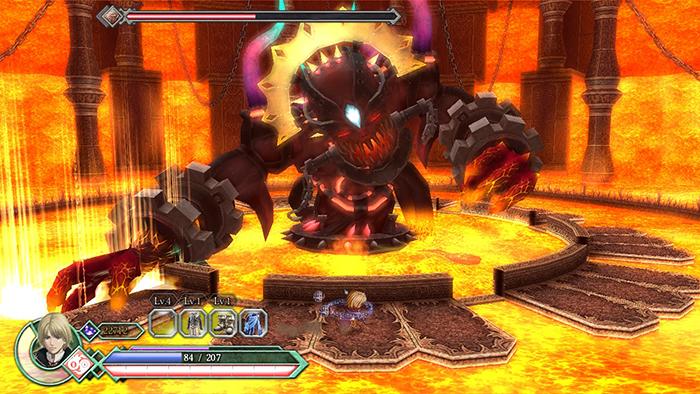 Boss battle in Ys Origin (Switch)