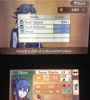 Getting a skill from a My Castle battle in Fire Emblem Fates