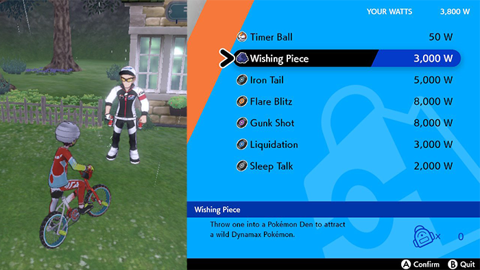 Buying a Wishing Piece in Pokemon Sword and Shield