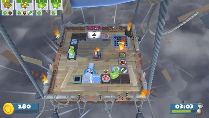 Campaign Balloon Storm Stage in Overcooked All You Can Eat