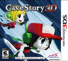 Cave Story 3D Game Box Cover Art