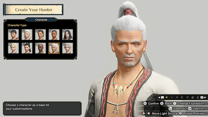 Character Customization in Monster Hunter Rise