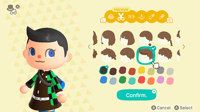 Character Customization in Animal Crossing: New Horizons