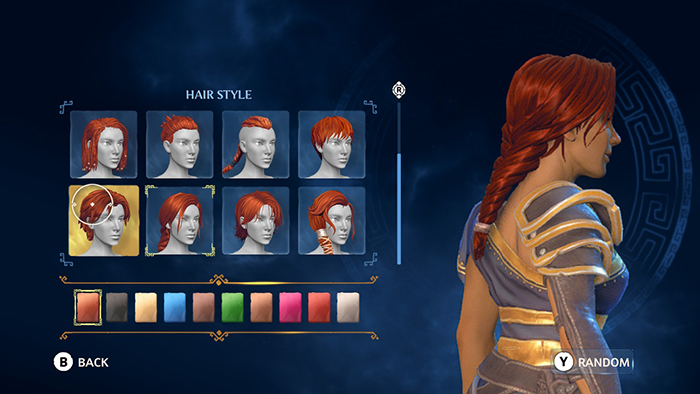 Character Customization in Immortals Fenyx Rising