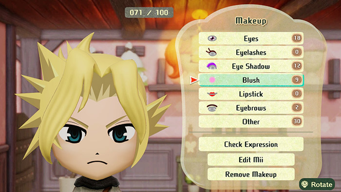 Character Customization for Miitopia on the Nintendo Switch