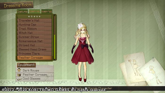 Character customization in Atelier Ayesha: The Alchemist of Dusk DX