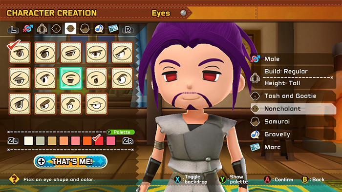 Character customization in Snack World: The Dungeon Crawl - Gold
