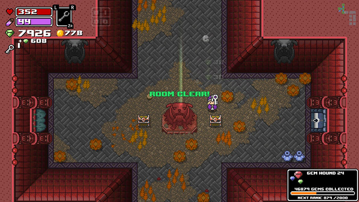 Clearing a dungeon room in You can pet the dog in Rogue Heroes: Ruins of Tasos