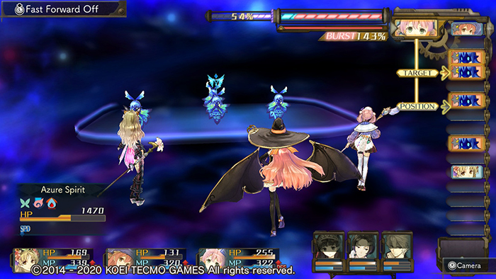 Combat in Atelier Shallie: Alchemists of the Dusk Sea DX
