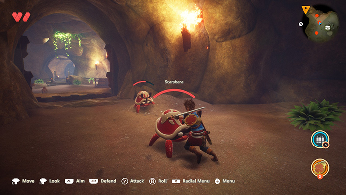 Combat in Oceanhorn 2: Knights of the Lost Realm