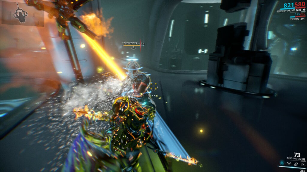 Fast paced combat in Warframe for Nintendo Switch