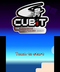 Cubit The Hardcore Platformer Robot Start Screen