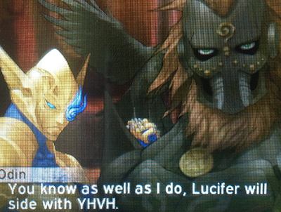Dagda talking to Odin