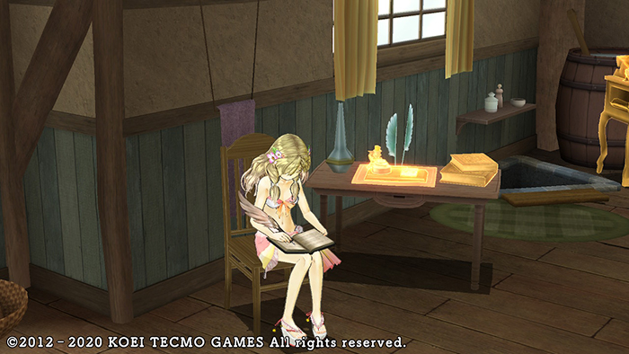 Writing in the dairy - Atelier Ayesha: The Alchemist of Dusk DX