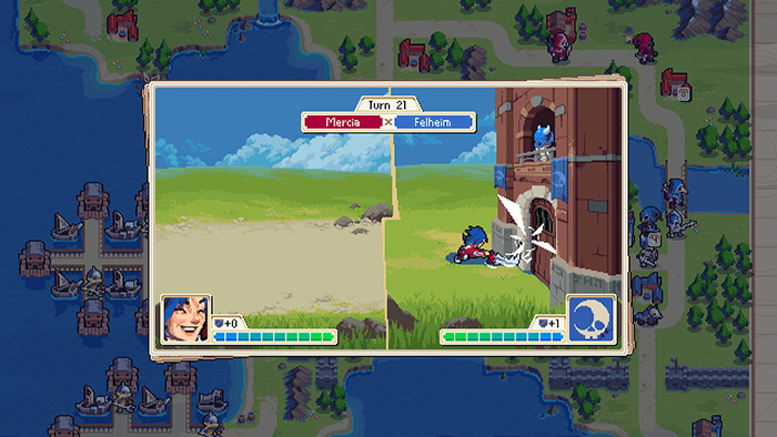 Damaging building in Wargroove