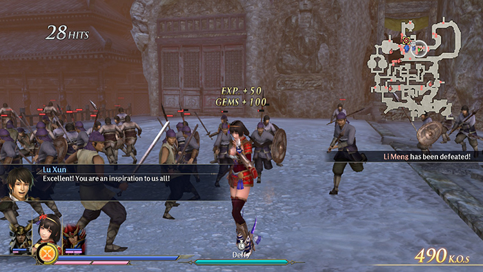 Defeating an opponent in Warriors Orochi 4 Ultimate