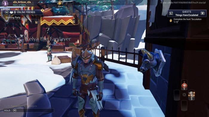 The first bust you see in Dauntless.