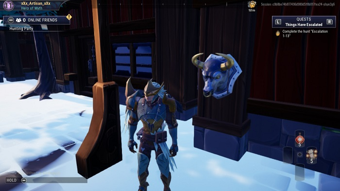 The last few busts in Dauntless in any order. (3)