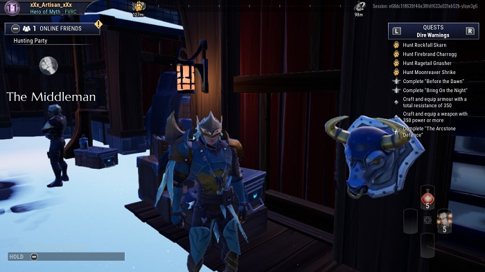 The bust near The Middleman in Dauntless.