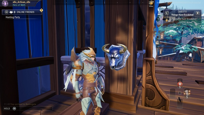 The seventh bust you see in Dauntless.