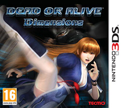 Dead or Alive Dimensions 3DS Game Box Cover Art