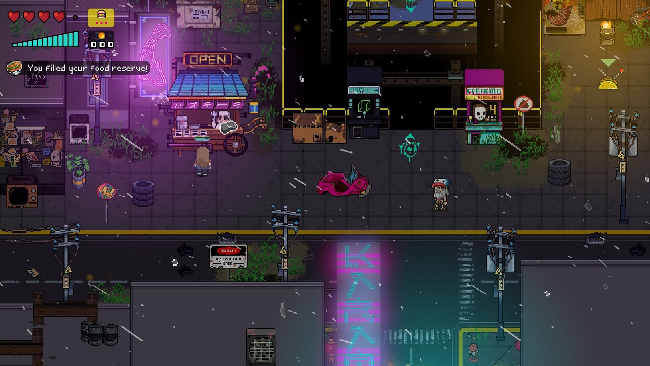Areas where enemies are not necessarily present all the time in Neon City Riders