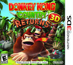 Donkey Kong Country Returns 3D Game Box Cover Art