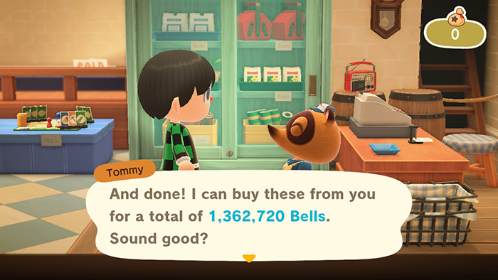 Making one million Bells in Animal Crossing: New Horizons