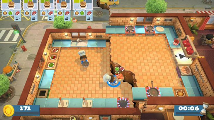Earthquake Hazard in Overcooked All You Can Eat