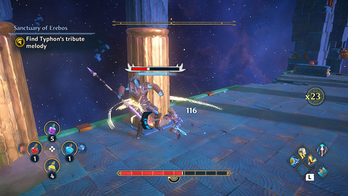 Combat in Immortals Fenyx Rising
